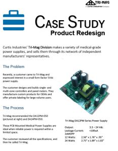 medical power supply redesign