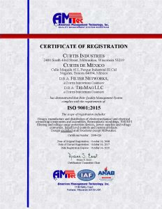 iso certified electrical component manufacturer